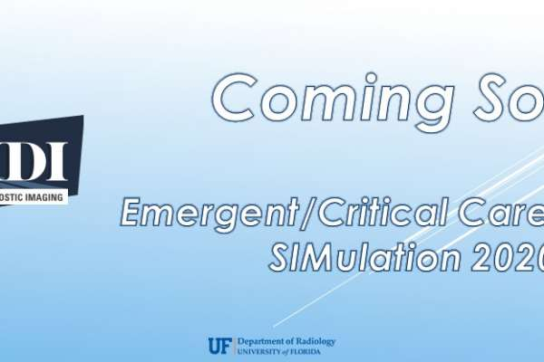 WIDI Emergent/Critical Care Imaging SIMulation 2020 - Coming Soon