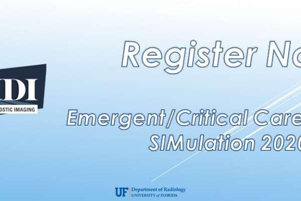 WIDI Emergent/Critical Care Imaging SIMulation 2020 - Register Now