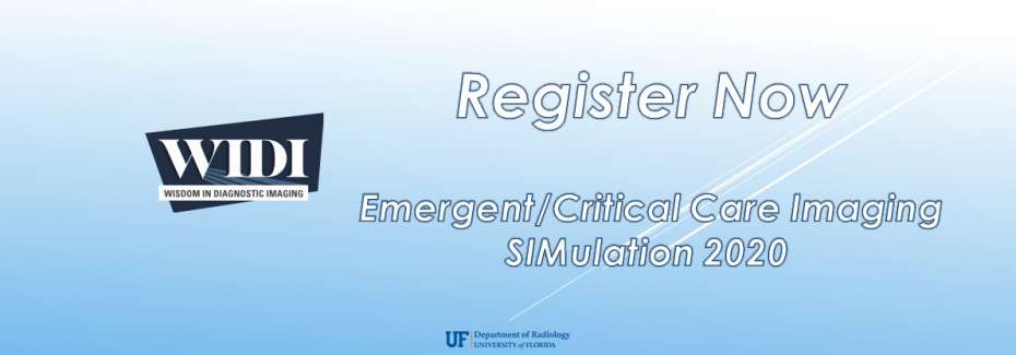 WIDI Emergent/Critical Care Imaging SIMulation 2020 - Register Now