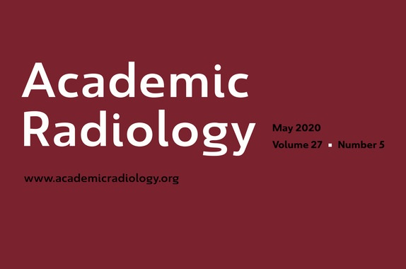 Academic Radiology Journal May 2020 Cover
