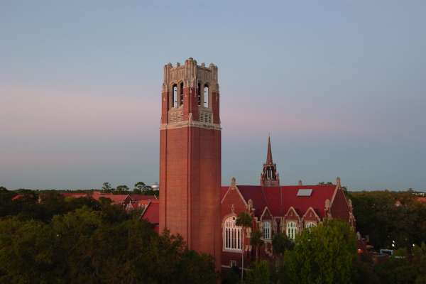 Century Tower at twilight